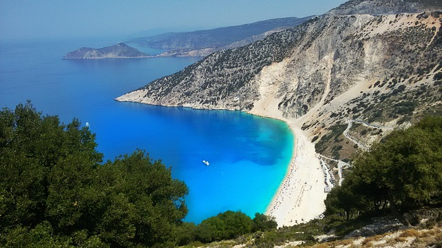 Myrtos plaža keflaonija